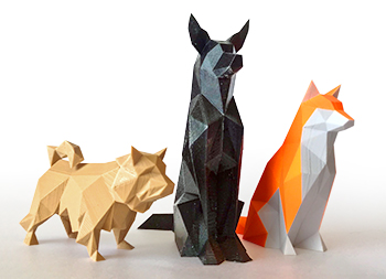 A link to Low Poly Abstract Dogs Page